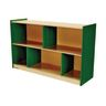 "Environments® 30"" Forest Wood Divided Shelf Green"