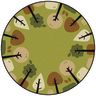 Tranquil Trees Carpet 6' Round Green