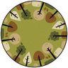 Tranquil Trees Green 6' Round KIDSoft Premium Carpet