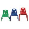 """14"""" Stacking Chairs with Matching Legs- Set of 6"""