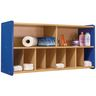 Diaper Wall Storage - Maple/Royal Blue, Assembly Required