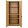 Locking Tall Laminate Storage - Maple/Royal Blue, Ready to Assemble