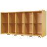10-Cubbie Wall Locker - Maple/Maple, Assembled