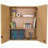 Adjustable 3-Shelf Locking Wall Storage - Maple/Maple, Assembled