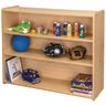 "Straight 3-Shelf Storage Unit, 38""H - Maple/Maple, Assembled"
