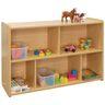"2-Shelf Storage Unit, 30""H - Maple/Maple, Assembled"