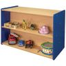 "30"" High Double-Sided Storage Unit - Maple/Royal Blue, Assembled"