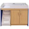 Walkup Changing Table - Maple/Royal Blue