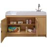 Infant Changing Table with Right Side Sink - Maple/Maple
