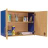 Adjustable 2-Shelf Locking Wall Storage - Maple/Royal Blue, Assembled