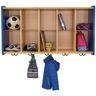 10-Cubbie Wall Locker - Maple/Royal Blue, Assembled