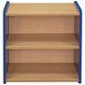 "2-Shelf Narrow Storage Unit, 24""H - Maple/Royal Blue, Assembled"