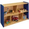 "2-Shelf Storage Unit, 30""H - Maple/Royal Blue, Assembled"