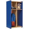 Tot Mate® 2-Section Locker - Maple/Royal Blue, Assembled