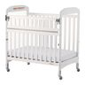 Foundations® Serenity Compact SafeReach Side Crib, Adjustable Mattress Board, Clearview, White Finish