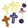 Colorations Cross-Shaped Sticky Collage Boards Set of 24