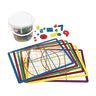 Light Table Math Bucket and Sorting Mats 286 Pieces