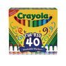 Crayola® Broad Line Ultra-Clean Markers 40 Color Classroom Value Pack