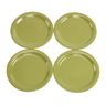 "Melamine 9"" Green Plates Set of 4"