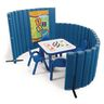 "48""H x 6'L Angeles® BaseLine® Sound Sponge® Quiet Dividers® - Blueberry"