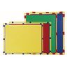 "Activity Center PlayPanels® - Rectangle, 31"" x 48"" - Green with Yellow Piping"