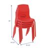 """Angeles® MyPosture™ Chair 14"""" H - Set of 4 Red"""