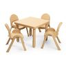 "Angeles® MyValue™ Set  - 28""Sq. x  20""H with Four 11""H Chairs - Natural"