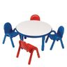 "Angeles® BaseLine® Preschool Table and Chairs Set - 36"" Round in Blue"