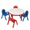 """Angeles® BaseLine® Preschool Table and Chairs Set - 36"""" Round in Red"""