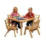 "Angeles® NaturalWood™ Collection 30"" Square Table 16""H"