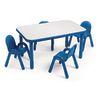 "30"" x 72"" Rectangle BaseLine® Table, 14""H - Blue"
