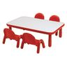 "30"" x 72"" Rectangle BaseLine® Table, 14""H - Red"