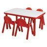 """30"""" x 72"""" Rectangle BaseLine® Table, 24""""H - Red"""