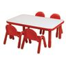 "30"" x 48"" Rectangle BaseLine® Table, 18""H - Red"