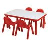 """30"""" x 48"""" Rectangle BaseLine® Table, 20""""H -Red"""