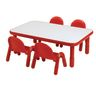 """30"""" x 60"""" Rectangle BaseLine® Table, 16""""H - Red"""
