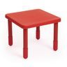 """Angeles® Value Table 28"""" Square, 14"""" Leg - Red"""