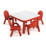 "30"" Square BaseLine® Table, 14""H -  Red"