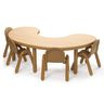 """38"""" x 65"""" Kidney BaseLine® Table, 24""""H - Natural Cocoa"""