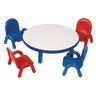 "36"" Round BaseLine® Table, 12"" Leg - Blue"
