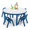 "36"" Round BaseLine® Table, 16"" Leg - Blue"