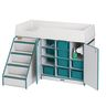 Rainbow Accents® Toddler Diaper Depot w/ Stairs - Teal