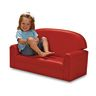 "Toddler Vinyl Sofa 8""H Seat Height- Blue"
