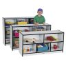 Rainbow Accents® Mobile Shelving, Preschool - Black