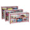 Rainbow Accents® Mobile Shelving, School Age - Red