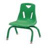 """Berries® Single 8"""" Stacking Chair with Matching Legs - Green"""