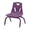 """Berries® Single 8"""" Stacking Chair with Matching Legs - Purple"""