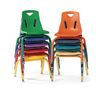 """Berries® Single 8"""" Stacking Chair with Matching Legs - Teal"""