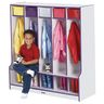 Rainbow Accents® 5-Section Coat Locker with Step - Red