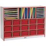 Rainbow Accents® Sectional Mobile Cubbie Without Trays - Red